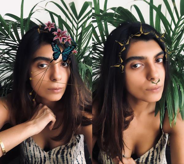 Roma Narsinghani's IG filters, GAIA Collection, AR and VR technology in India,